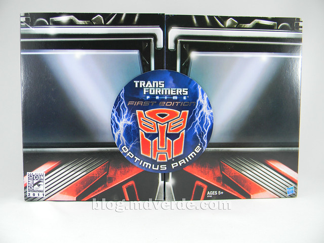 "Transformers Optimus Prime  ""Transformers Prime"" Deluxe SDCC - empaque"