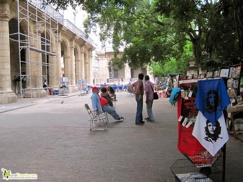 Park in Havana Vieja Cuba