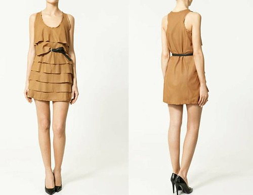 Vestido-piel-volantes-Zara-Primavera-Verano-2011