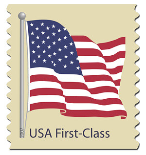 U.S. flag postage stamp