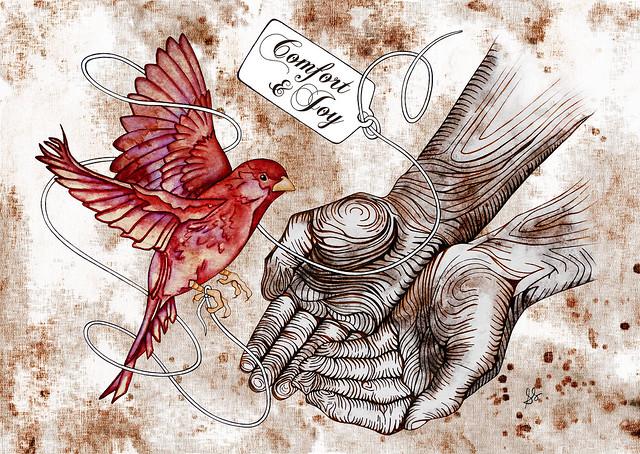red bird comfort