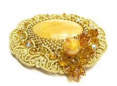 Gold Freshwater Pearl Brooch (MEDUSA JEWELLERY) Tags: brooch pearl freshwater