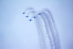 the blue impulse (hanabi.) Tags: japan saitama airbase blueimpulse 2011 selfdefenceforce iruma