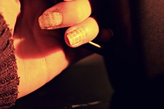 newspaper nails (porcelain alice) Tags: winter art fall canon newspaper cozy sweater warm tea nail warmth