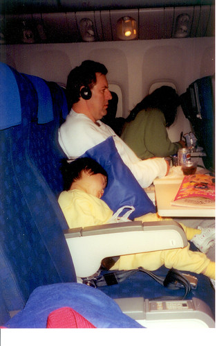 mike and bret on plane