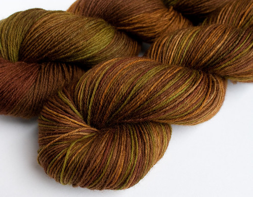 *Masala Chai* on 8-ply fingering merino, 3.5 oz
