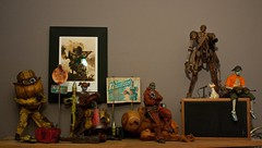 Zomb and Popbot shelf (dangercorpse) Tags: 3a shelf 16 zomb custom kitbash zombiegirl ashleywood yoji obitsu popbot threea tomorrowking adventurekartel wwwetworks