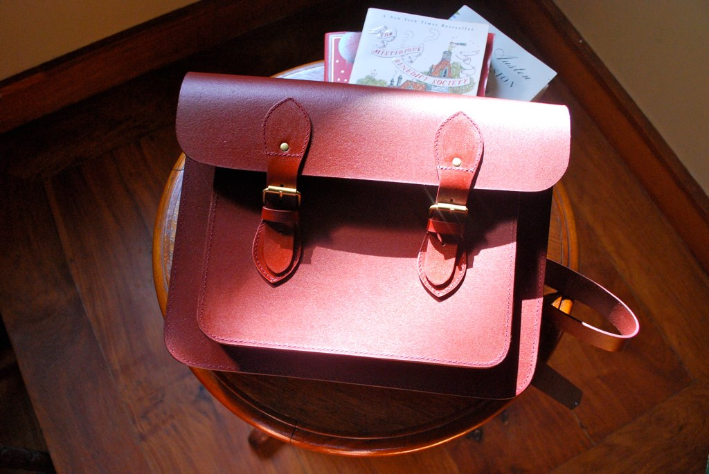 School of Satchel old school leather satchel review