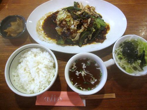 肉とキャベツの味噌炒め@茶平(桜台)