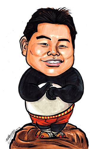 Kungfu Panda theme caricature