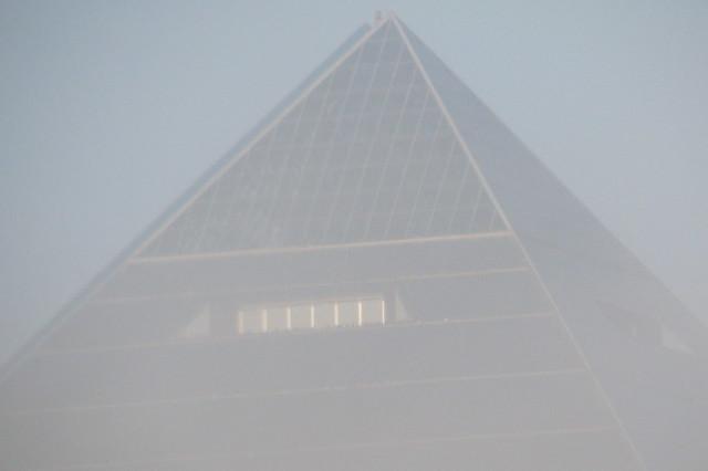 Memphis Pyramid in the fog