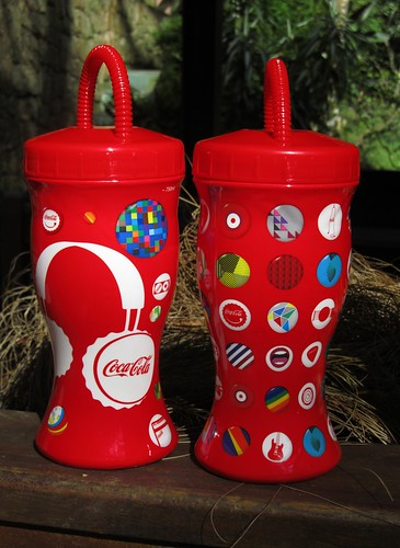 2011 Rock in Rio 700 ml 4 Promo Red Plastic Cups Coca-Cola Rio de Janeiro by roitberg