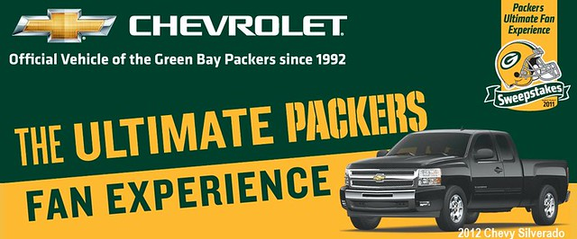 Go Pack, Go! Have you entered to win the Chevy Ultimate Packer Fan Experience yet? Come see us before its too late!