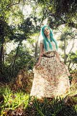 Talya Poxleitner (Dar.shelle) Tags: blue portrait sun fashion forest canon hair glow princess stevens fairy 7d whimsical talya darshelle