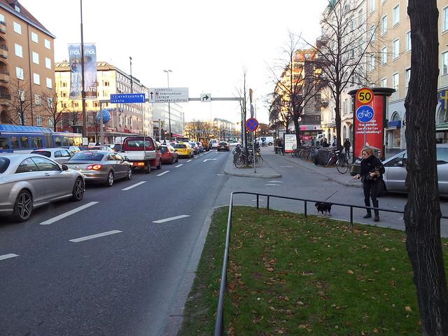 Påfart Ringvägen cykelbana