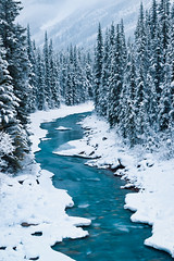 Bend in the North Saskatchewan River: Banff National Park, Alberta (Mike Blanchette) Tags: snow canada river alberta banff northsaskatchewanriver canadianrockies banffnp