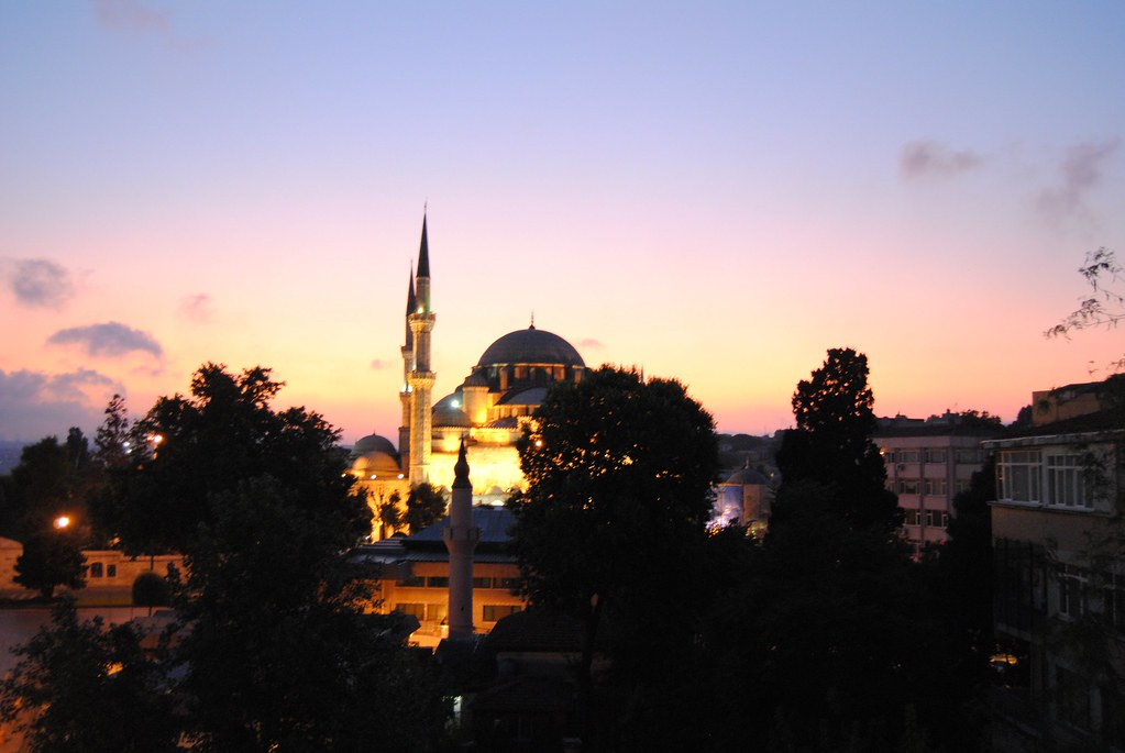 Sunrise from Hotel, Istanbul, Turkey