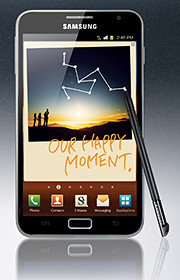 Samsung GALAXY Note (S$998, 16GB) will be available in Singapore in November 2011.