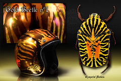 """Gold Beetle n1 """"the project"""" (Unexpected Custom) Tags: original classic bike painting gold design leaf metallic flames helmet beetle harley sparkle motorbike chrome moto copper customized biker custom rider unexpected 60 airbrush brushed pinstriping metallicpowder ywnh"""