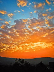 The sky is burning (xenna993) Tags: autumn sky sun clouds canon landscape serbia sunseat