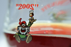 la chouffe (Christian Collins) Tags: macro beer glass canon logo drinking delicious alcohol beerglass lachouffe haveadrink macrotube takeadrink