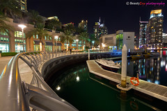 UAE - Dubai Marina #2 (Beauty Eye) Tags: light sea reflection beautiful night skyscraper dark restaurant mix rainbow dubai yacht walk uae dubaimarina    marinawalk  platinumheartaward  flickraward5 flickrawardgallery