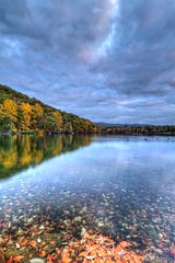 Hessian Lake, Bear Mountain NY (CliffPetersonPhotography) Tags: autumn lake fall canon landscape day cloudy bearmountain fallfoliage hdr canonefs1022mm canon1022mm hessianlake canon7d
