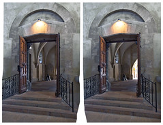 Cathedral's Gate HDR 3D :: Stereoscopic Cross View :: (Stereotron) Tags: eye church canon germany eos stereoscopic stereophoto stereophotography 3d crosseye crosseyed europe raw cross cathedral kitlens stereo dome squint stereoview spatial 1855mm chacha sidebyside hdr 3dglasses hdri sbs saale stereoscopy squinting threedimensional stereo3d freeview naumburg cr2 stereophotograph crossview saxonyanhalt sachsenanhalt 3rddimension 3dimage xview tonemapping unstrut kreuzblick 3dphoto 550d stereophotomaker 3dstereo 3dpicture quietearth stereotron
