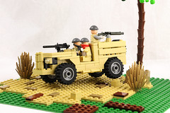The Rat Pack (Florida Shoooter) Tags: lego ww2 britisharmy desertrats chev30cwt4x2