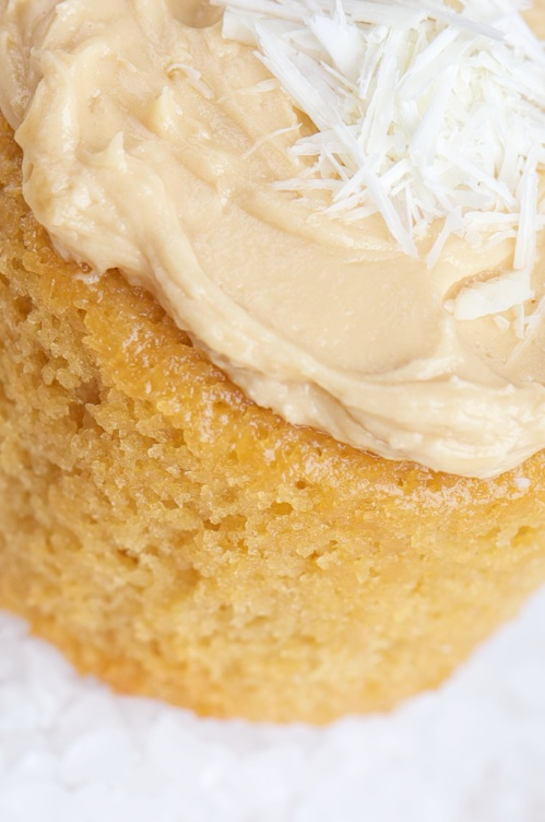 caramel cupcake close up