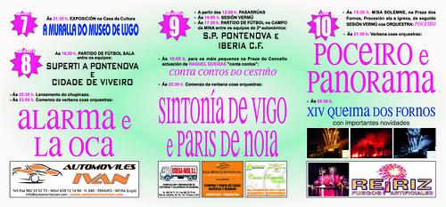 A Pontenova 2011 - Festas de outubro - programa