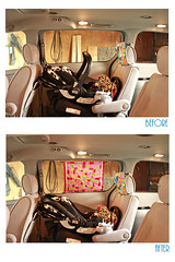 A little sun shade for my sweetie. (sohobutterfly) Tags: shade roller ba beforeandafter alternative britax infantcarseat diyvehiclesunshade diybabysunshade