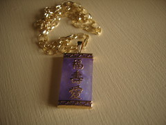 Lilac Jade Gold Necklace (Bracelets To Buckles) Tags: necklace jade pendant