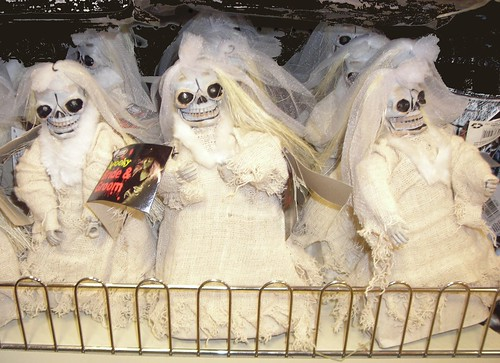 Halloween skeleton brides