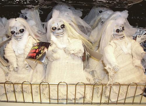 Halloween skeleton brides