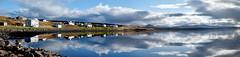 Bardalur panorama (SteinaMatt) Tags: sky panorama reflection clouds buildings matt iceland nikon september sland 2011 steinunn bardalur d80 steina vesturland matthasdttir