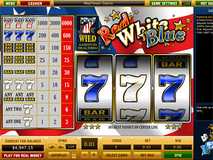 Red White Blue 1 Line slot game online review