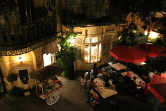 View of New Orleans Square from the Club 33 balcony (Castles, Capes & Clones) Tags: california disneyland disney anaheim neworleanssquare club33 disneylandresort