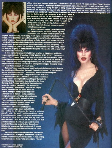 Monster Land #7 Elvira Article Page 3