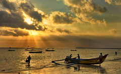 Kedongan, Jimbaran, Bali - Sunset (Bali Photography Workshop sample) (Mio Cade) Tags: sunset bali fish indonesia fishing fisherman village workshop lebaran jimbaran kedongan boqt