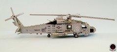 HS-3 'Tridents' SH-60F Seahawk (1) (Mad physicist) Tags: lego helicopter sikorsky seahawk sh60f cvw8