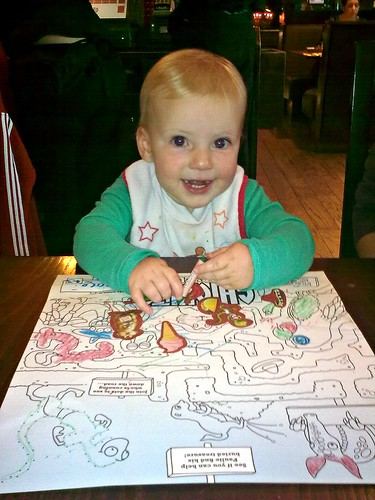 Colouring at Chiquitos waiting for Burritos... by Little Bambini