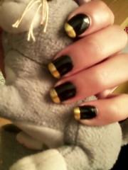 Francesinha Dourado + Black (EvelynOliveiira) Tags: nail unha esmalte francesinha