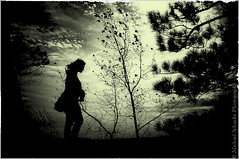 Windswept (Micha67) Tags: trees sky bw woman nature girl clouds michael nikon wind diane micha windswept schaefer d300 ptf