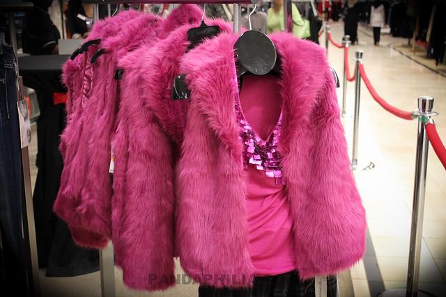hot pink fur vest
