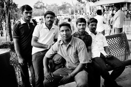 Men from Chennai, India. Little India, Singapore.