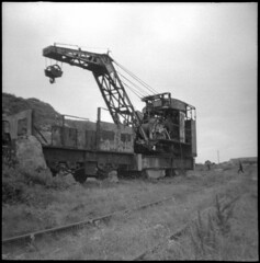 Alderney Railway steam crane at Mannez Quarry