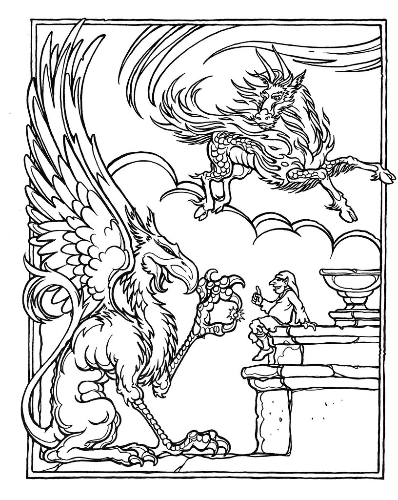 dungeons and dragons coloring pages - photo#2