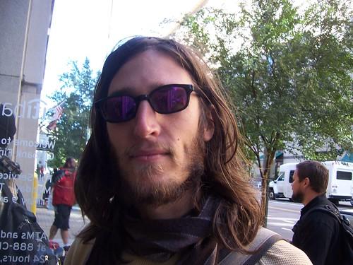 Johnnie Kranz of Occupy DC helps shut down a K Street branch of Citibank