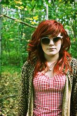(thtgrlnamdsam) Tags: old red portrait vintage glasses photo williams head gingham leopard ft hunter alexa leopardandgingham